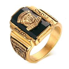 cool gold rings images Big gold rings mens new suohuan male cool lion head rock punk ring jpg