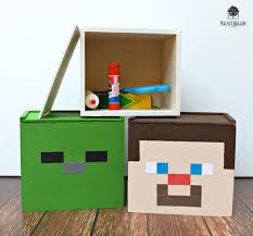 minecraft inspired supply storage boxes walnuthollowcrafts
