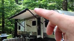 Best Way To Clean Awnings How An Rv Electric Awning Works Demonstration Youtube