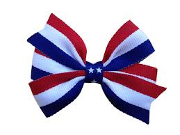 white and blue bows white blue hair bow fourth of july bow patriotic bow