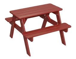amazon com little colorado child u0027s picnic table white toys u0026 games