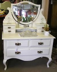 Vanity Table Ideas Marvelous White Antique Vanity Table Idea Feat Three Drawers