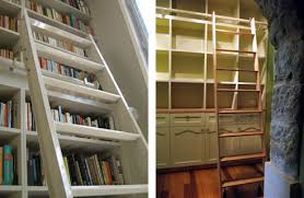 Sliding Bookshelf Ladder Rolling Library Ladders From Access Ladders