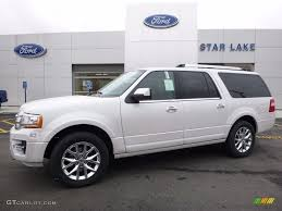 ford expedition el 2016 white platinum metallic tricoat ford expedition el limited