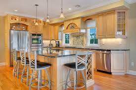 Kitchens With Light Wood Cabinets Natural Stained Wood Kitchen Toms River New Jersey By Design Line