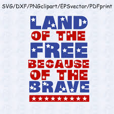 free pumpkin svg memorial day svg land of the free because of the brave