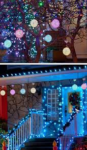 outdoor christmas light balls diy outdoor christmas light decorations how to make christmas light