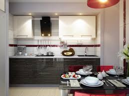 extraordinary red black and white kitchen decoration using modern