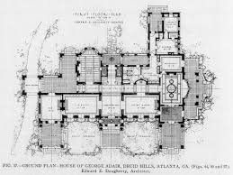 floor plan of the george adair druid hills residence atlanta