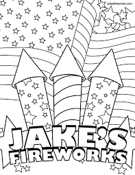 coloring pages of fireworks eson me