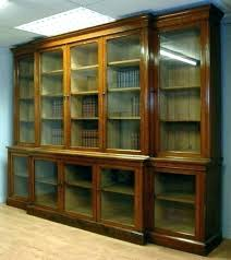 Solid Wood Bookcases With Glass Doors Solid Wood Bookshelf With Glass Doors Side S Decoratg Solid Wood