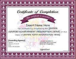 examples of certificates of completion certificate of completion for ms word download at http