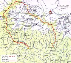 Karakorum On Map Annapurna Circuit Trek Nepal Pinterest
