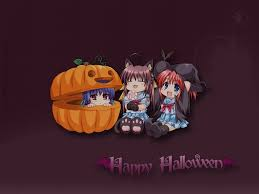halloween chibi background cute anime halloween wallpaper