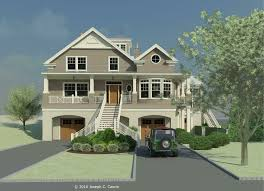 beach house stilts plans floor pilings seaside houses are often