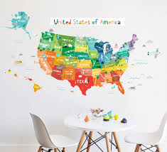 United States Map Wall Decal by Wall Decals Coloring Pages Wall Decals Usa 50 Wall Stickers