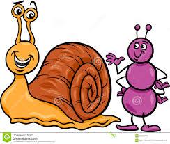 thanksgiving cartoon jokes ant and snail cartoon illustration stock vector image 39459701