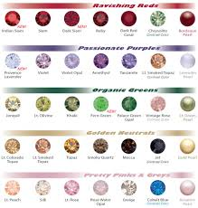 swarovski color chart for fall winter 2010 2011 eureka crystal bead