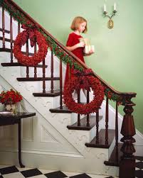 Christmas Banister Garland Ideas Christmas Garlands Martha Stewart