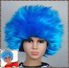 wigs for kids halloween thing1 thing2 blue halloween kids children baby wig fits from
