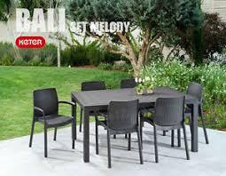 tavoli da giardino rattan sedie poltrone bali per set da giardino con tavolo 6 posti simil