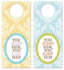 Door Hanger Design Ideas Baby Shower Blog Hop Printable Nursery Door Hangers Design Editor