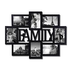 target black friday family collage frame adeco decorative black wood