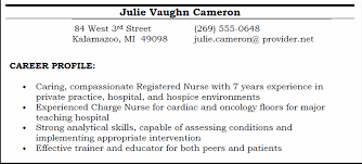 Resume Profiles Examples Cv Career Profile Examples
