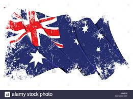 Austrslia Flag Commonwealth Australia Flag Blue Commonwealth Australia Stock