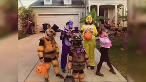 trick or treat 2016 homemade five nights at freddy u0027s costumes