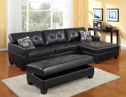 tufted leather sectional sofa cool sectional sofa with chaise and ottoman on furniture design