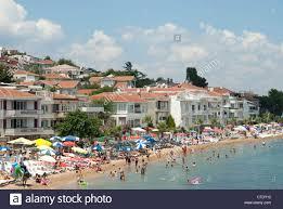 istanbul turkey a beach on kinaliada one of the princes