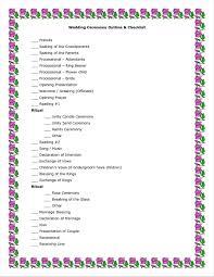 Examples Of Wedding Program Traditional Wedding Ceremony Outline Ceremony Outline Examples