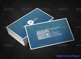 Business Card With Qr Code 50 Best Corporate Business Cards Design Print Templates Frip In