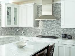 interior stunning open kitchen design using white cream mosaic