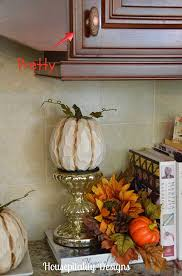 Fall Kitchen Decor - kitchen cabinetry facelift