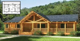ranch style log home with must see floor plans