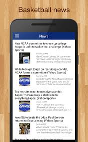 Challenge Yahoo College Basketball Live Scores Plays Schedules Android Apps