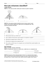 how are volcanoes classified natural disasters printable 6th