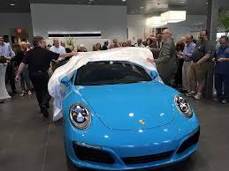 porsche 911 launch 2017 porsche 911 launch live by tonic blue
