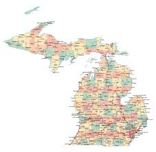 Map Of Usa And Cities by Michigan In Usa Map Michigan Map Maps Of Michigan State