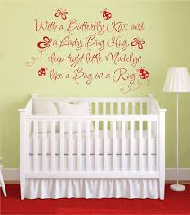 Wall Decals Baby Nursery Butterfly Ladybug Hug Vinyl Wall Decal Baby Nursery Wall