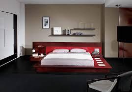 adriana italian design bedroom set with lights on platform bed