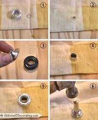 Curtain Grommet Tool Bathroom Makeover Day 19 20 How To Make An Shower