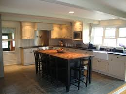 farmhouse kitchen island stained floor stained island u0026