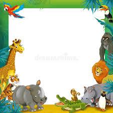 safari cartoon cartoon safari jungle frame border template illustration for