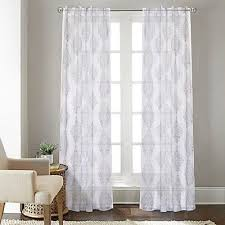 sheer window treatments sheer window curtain panel talia 108 inch rod pocket back tab in