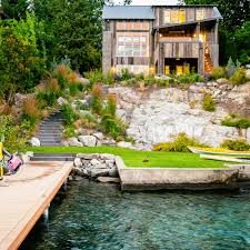 how to design a lake house sunset