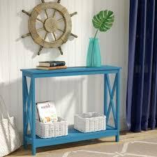 Blue Console Table Blue Console Sofa Tables You Ll Wayfair