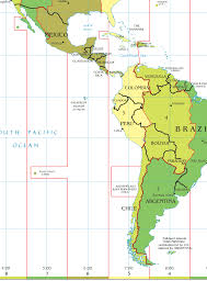 Map Centro America by